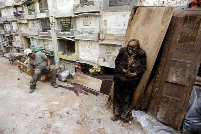 Чистильщик могил. Да, есть такая работа