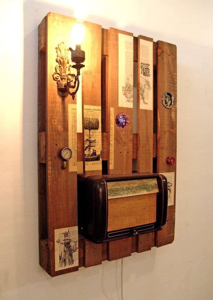 Стильное и функциональное оформление квартиры - из деревянных паллет