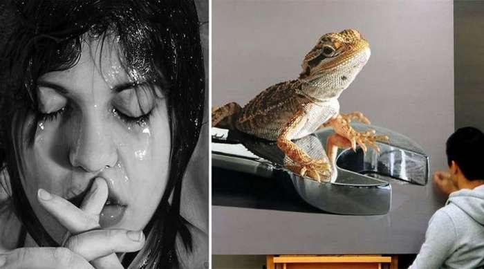 15 гиперреалистических картин, которые с огромным трудом можно отличить от фотографий
