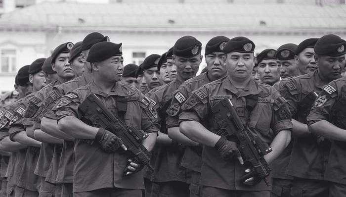 Монгольский спецназ. Не видели? А он есть
