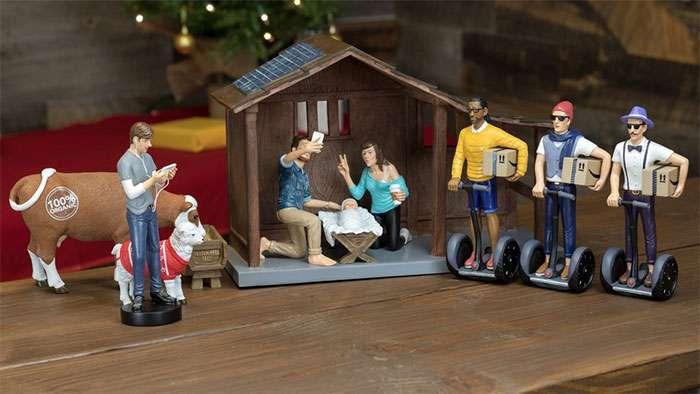 Хипстерский рождественский вертеп — это, во-первых, иронично
