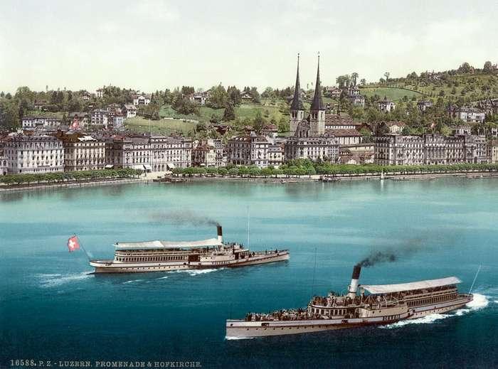 Уникальные цветные открытки Швейцарии 1890 года