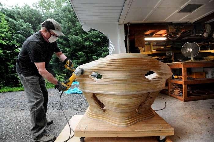 Как создаются необычные деревянные скульптуры Дэвида Кноппа