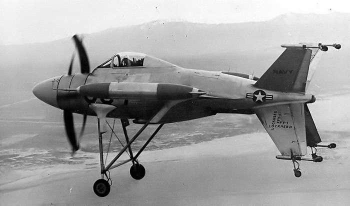 Самолеты вертикального взлета с хвоста