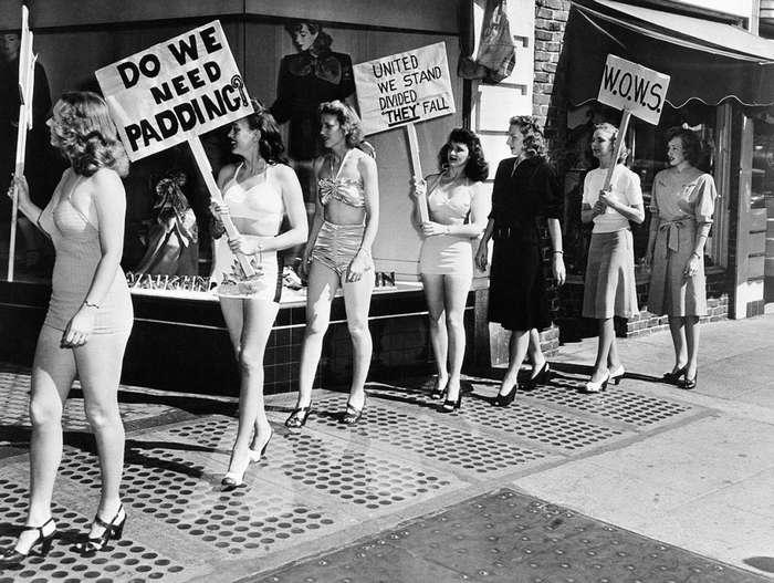 Как выглядели женские акции протеста в США 100 лет назад…и совсем недавно