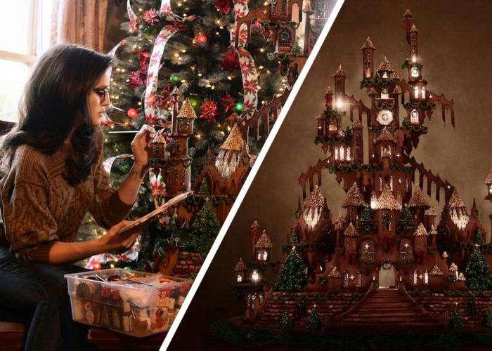 Съедобный готический замок к Рождеству: пряничный домик-гигант