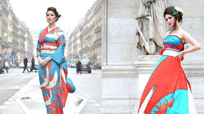 Японские невесты превращают традиционное кимоно в потрясающие подвенечные платья