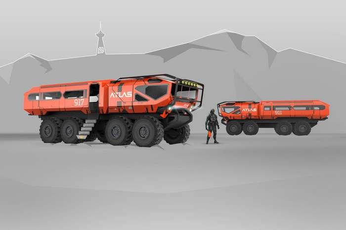 Концепт универсального грузопассажирского транспорта ATLAS