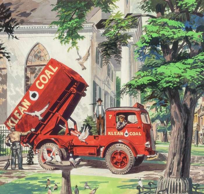 Художественная реклама Mack Trucks Питера Хелка