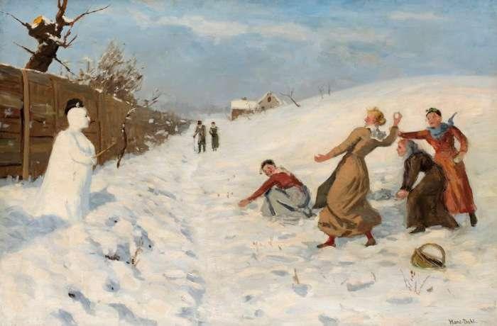 Зимнее чучело: Неожиданная история появления снеговика