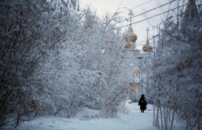 10 леденящих фотографий Якутии в обычный зимний день