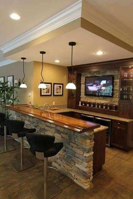 28 великолепных современных кухонь с домашними барами