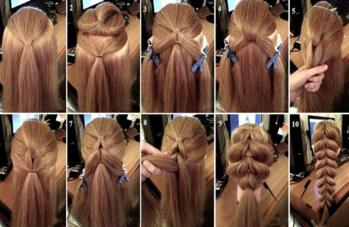 Повседневные прически на длинные волосы пошаговая инструкция