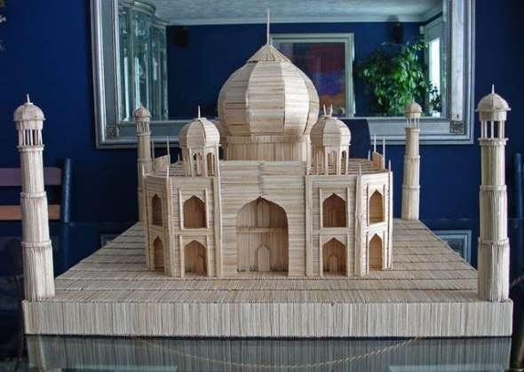 Мечеть из спичек своими руками 74