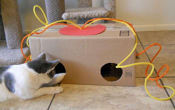 Игрушки для кошачьих своими руками
