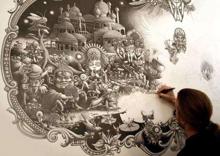 Потрясающий рисунок ручкой (11 фото)