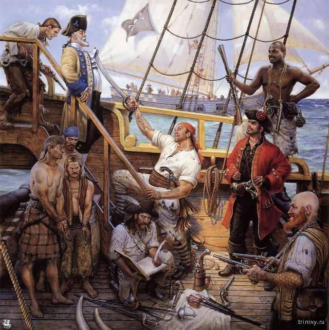 Необычные и интересные факты о пиратах (6 фото)