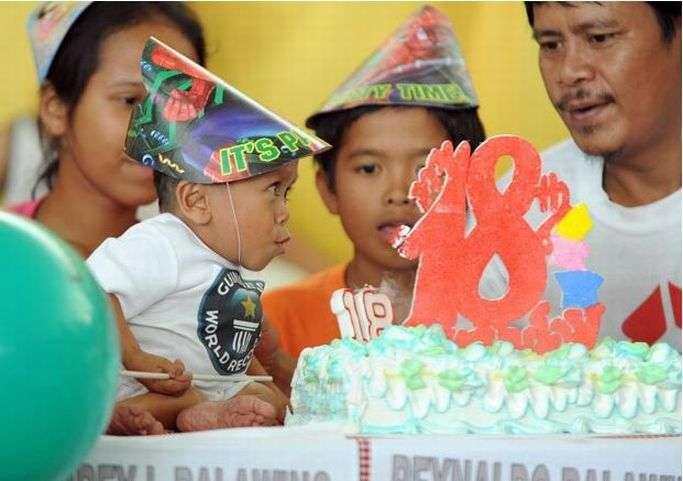 Джунри Балауинг - самый крошечный человек (13 фото)