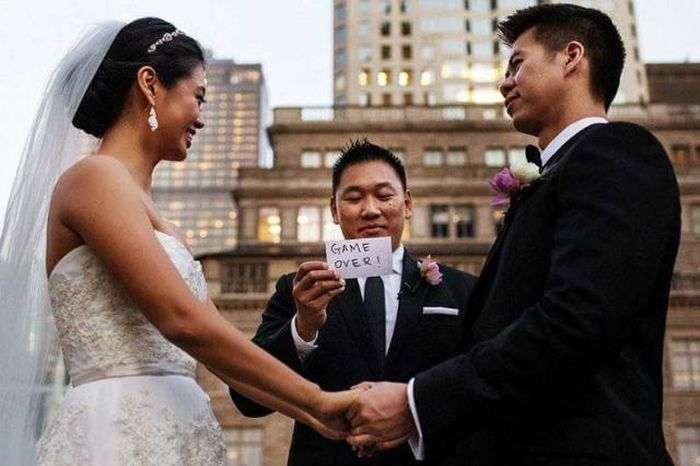 Забавные свадебные фото (42 фото)