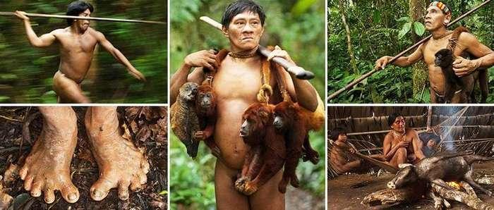 Племя Амазонки, мужчины которого лазят по деревьям и охотятся на обезьян