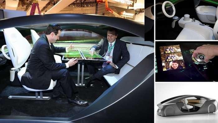 Компания Panasonic продемонстрировала автомобильный салон будущего