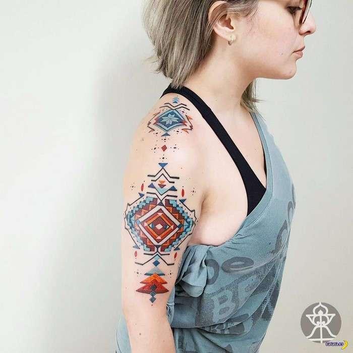 Татуировки на зависть - 79 - Орнаменты из Амазонии