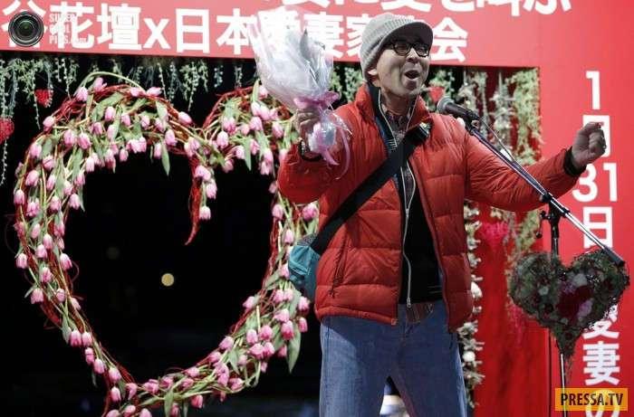 Очень необычные традиции на день святого Валентина (8 фото)