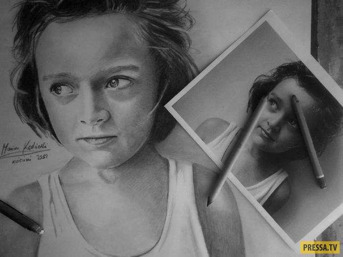 Невероятно талантливый польский художник Мариуш Кедзерски, который родился без рук (15 фото)