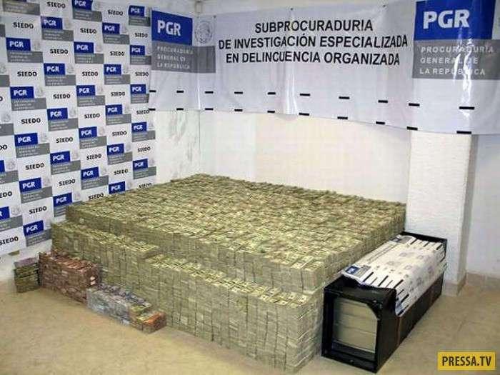 Обыск в доме торговца наркотиками в Мексике (22 фото)