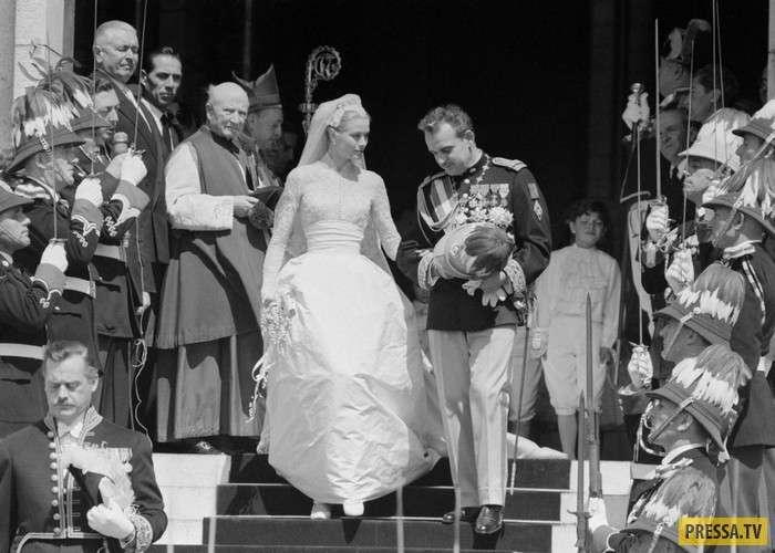 История Грейс Келли и князя Монако Ренье III (17 фото + видео)