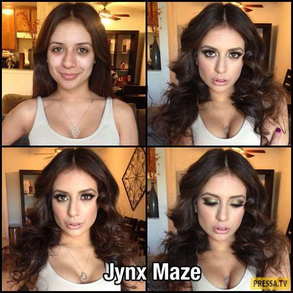 Популярные актрисы взрослого кино до и после макияжа (27 фото)