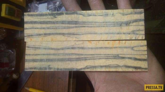Ручка из бивня мамонта и лунного эбена своими руками (23 фото)