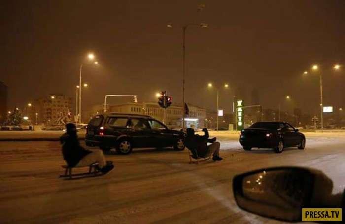 Автоприколы и смешные ситуации с Российских дорог (46 фото)