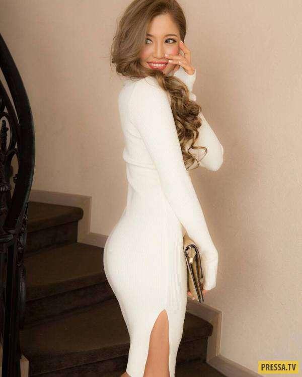 Красивые девушки в обтягивающей одежде (49 фото)