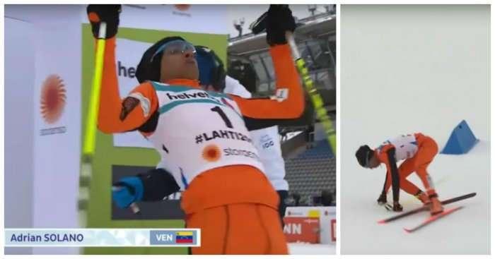 Эдриан Солано - худший лыжник в истории?