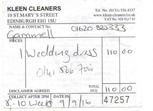 Сшитое прапрабабушкой невесты 147-летнее свадебное платье, потерянное химчисткой, нашлось с помощью Интернета (10 фото)