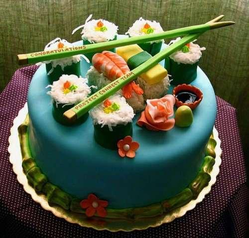 Креативные и необычные торты (24 фото)
