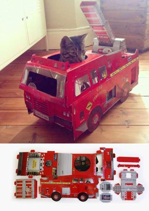 Уникальные домики и когтеточки для кошек от компании SUCK UK (7 фото)