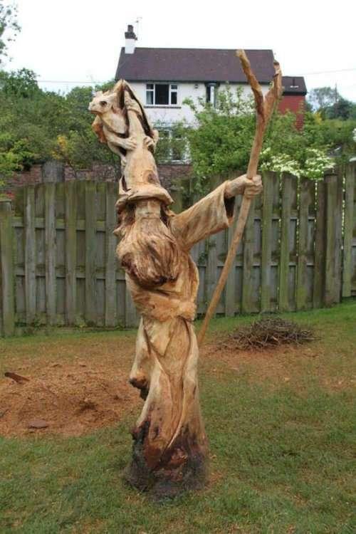 Деревянные скульптуры Саймона О'Рурка, созданные с помощью бензопилы (13 фото)