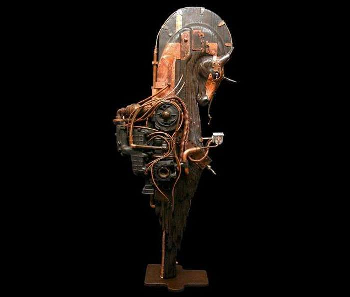Стимпанк скульптуры (28 фото)