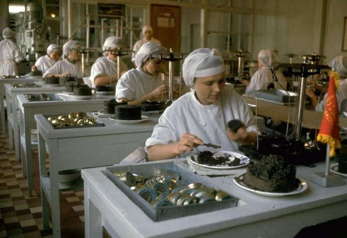 Добыча чёрной икры в Астрахани в 1960-м году