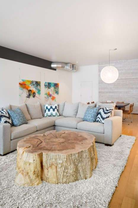 15 необычных идей оформлении домашнего интерьера с помощью дерева