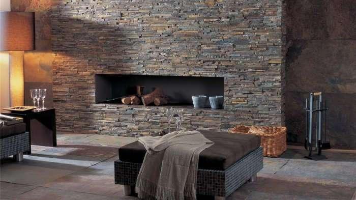 17 вдохновляющих примеров использования каменного декора в интерьере
