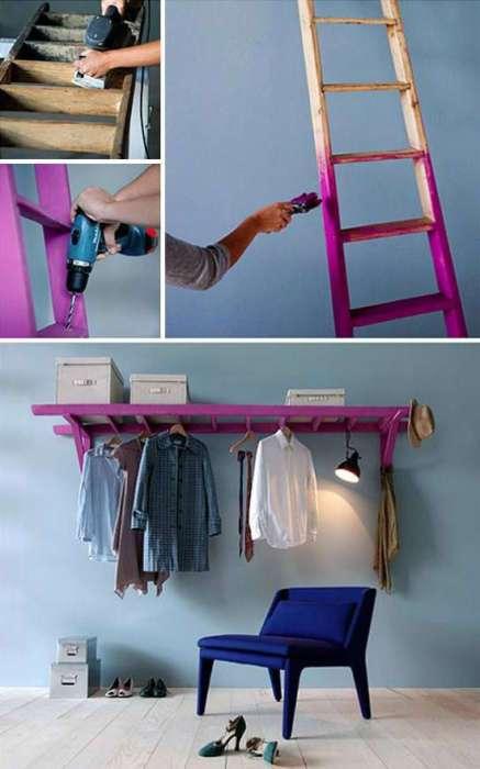 Как сделать вешалки своими руками с шкафом