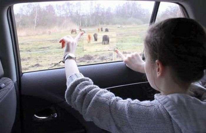 Toyota превратила пассажирское окно автомобиля в дисплей дополненной реальности