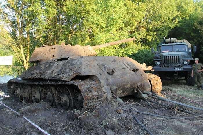 Подъём Т-34-76 из р.Дон