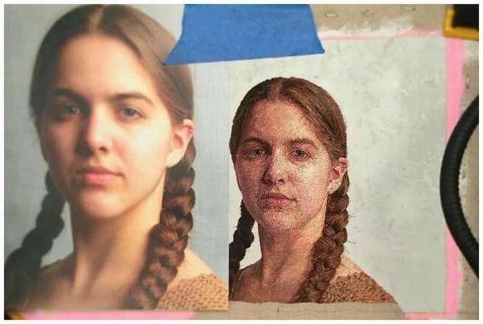 Великолепные вышитые портреты Кейси Завальи