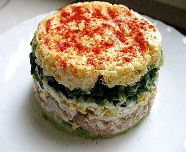Легкий, пикантный салат -Водолей-
