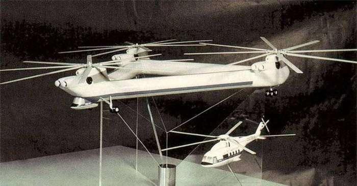 Проект уникального 3-х винтообразного вертолета Ми-32