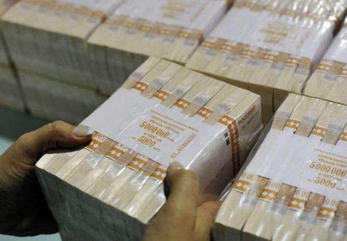 Как печатают рубли